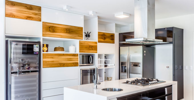 32. A kitchen island with an elegant cooktop