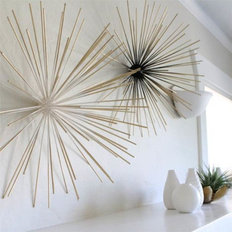 38 - Decoration made with barbecue stick and styrofoam ball