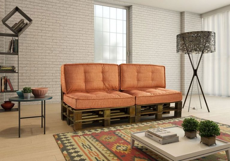 38. Use charming cushions for a two-seater sofa