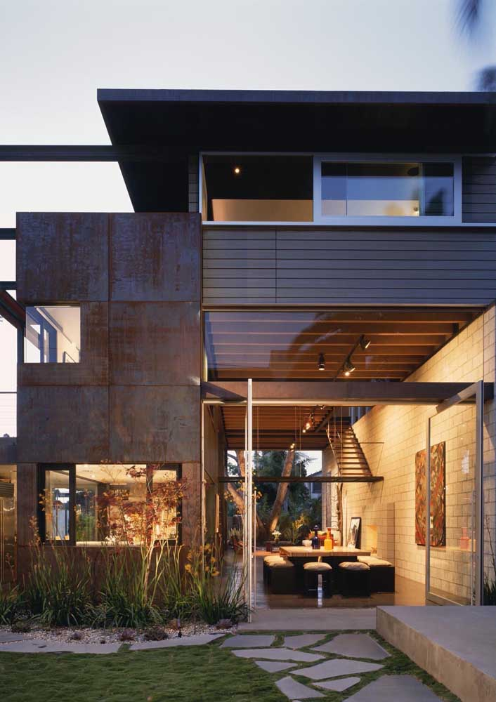 39. Corten steel is one of the most used materials on the facade of residential and commercial buildings.