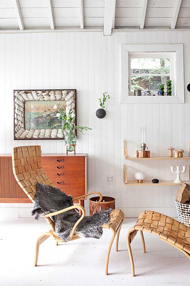 40. Rustic decor has design too!