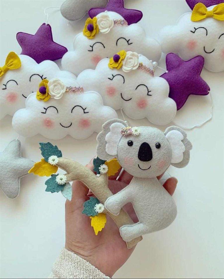 41 - Felt animals for children's decoration
