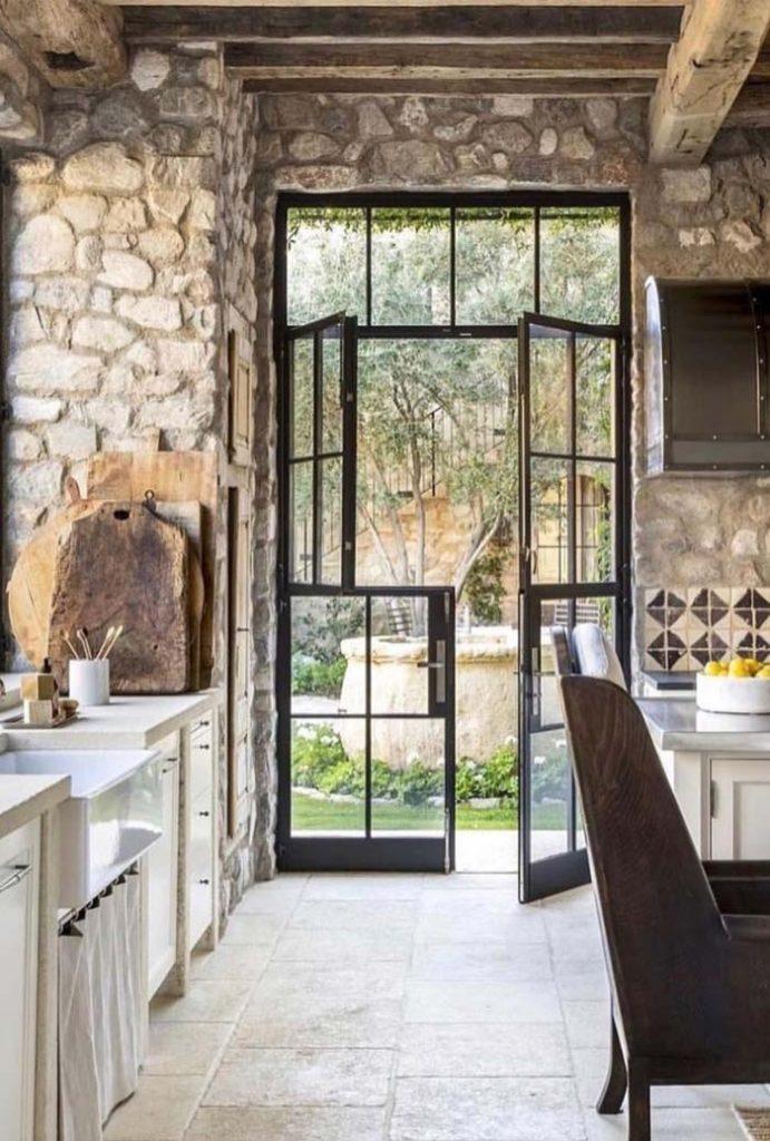 43. Stone kitchen