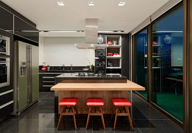 44. Kitchen with center island