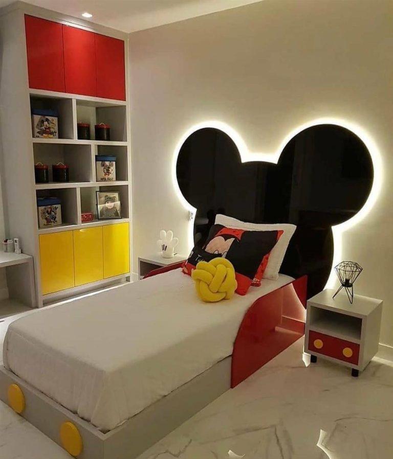 47 - Illuminated headboard for children's room Mickey theme