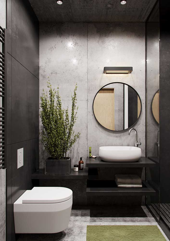 47. Modern decorated bathroom: less is more.