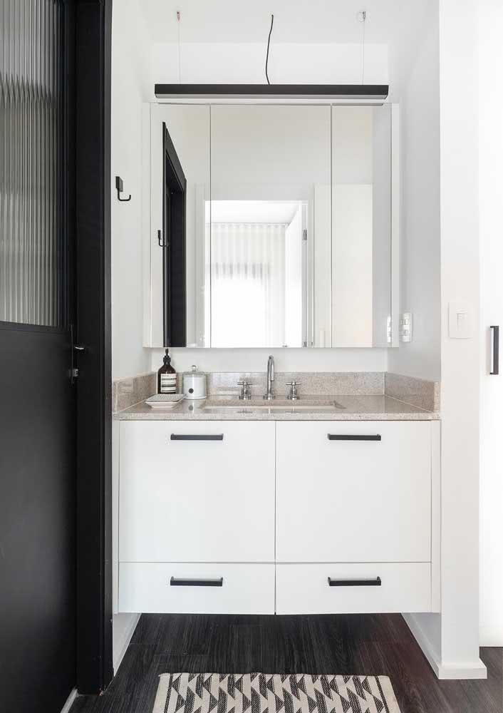 50 - Simple, beautiful and functional granite bathroom countertop.