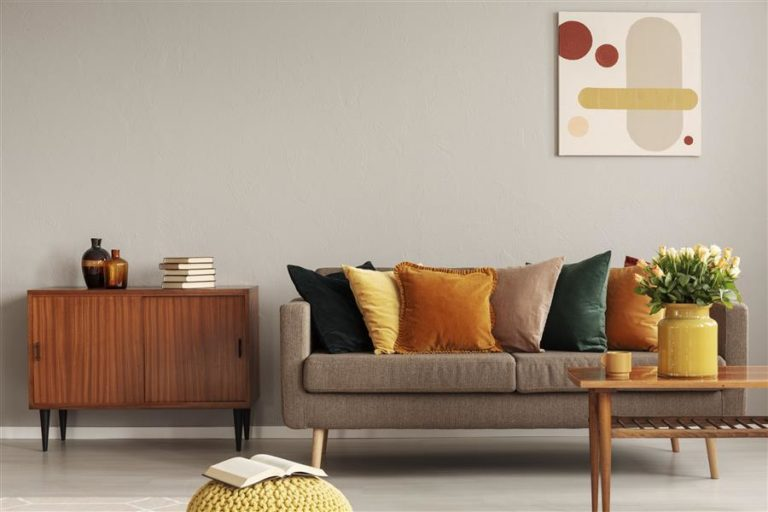 9 - Sofa decorated with colorful cushions
