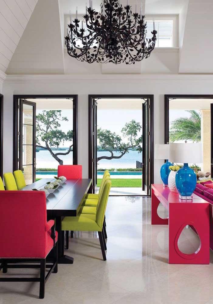 01. Botticino marble floor for the modern dining room