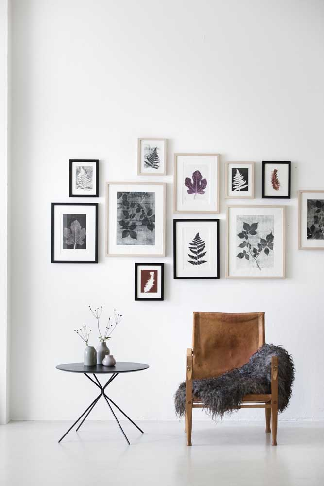 03. For those who prefer something more clean and organized, a good option is to join several frames with the image you like.