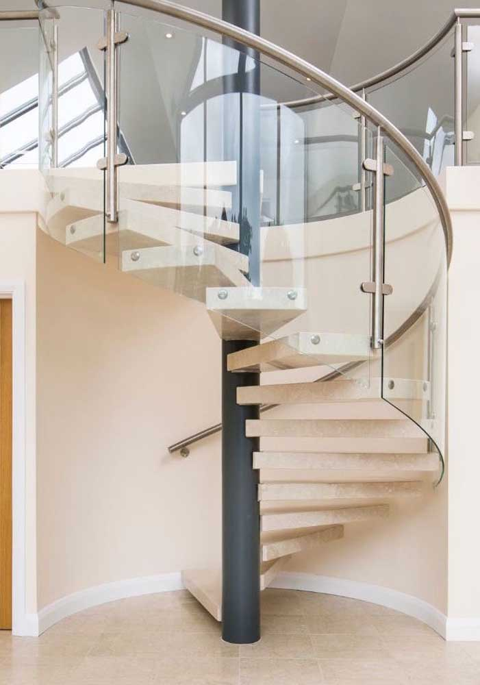 05. Botticino marble staircase.