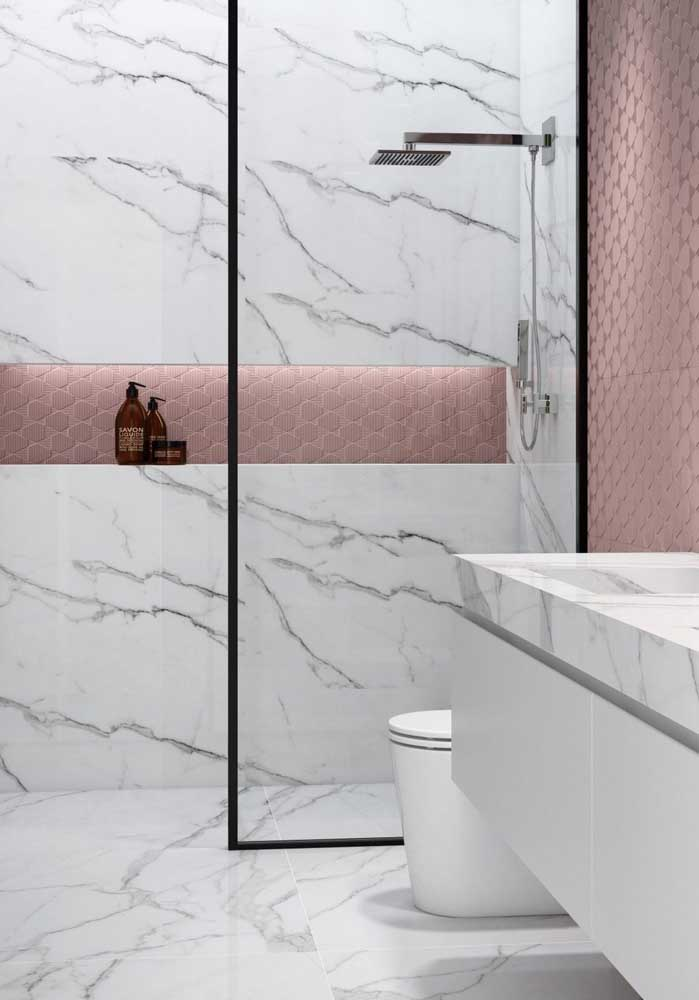 07. Bathroom covered in white Carrara marble.