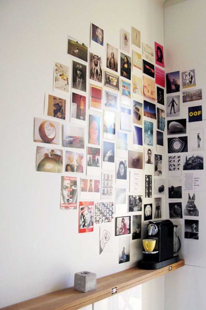 08. What do you think of making a montage with several photos in the corner of the kitchen wall?You can mix your photos and images that inspire you.
