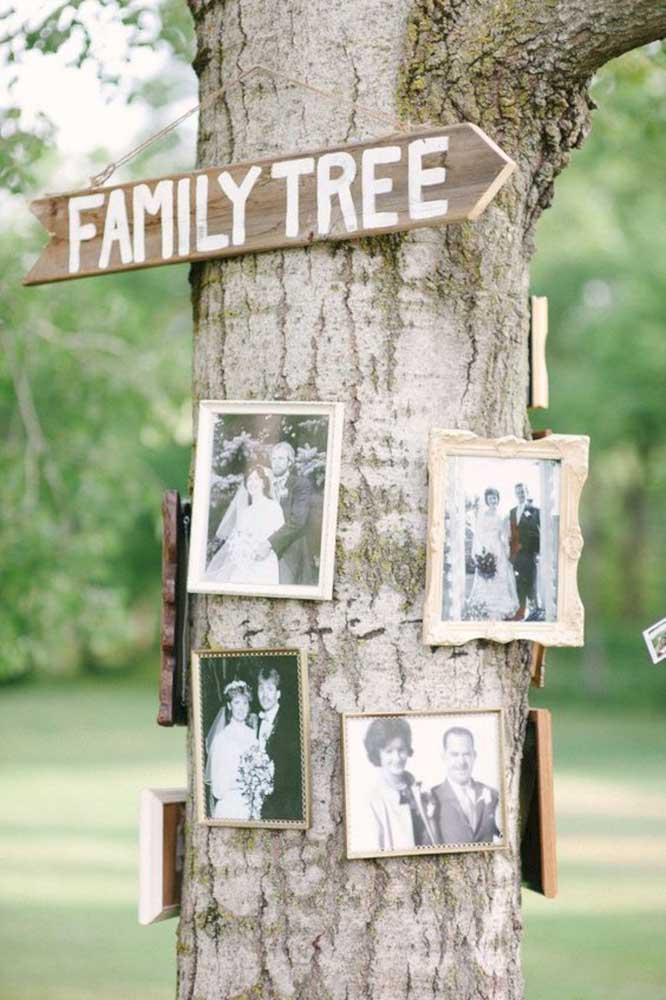 17. What do you think about making a photo panel on the tree trunk?Do you want something more appropriate than that to represent the family tree?
