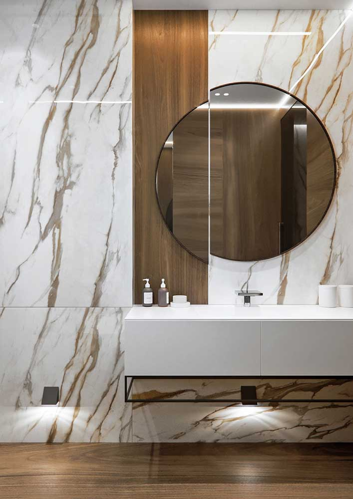 18. With calaccata oro marble you don't need anything else.