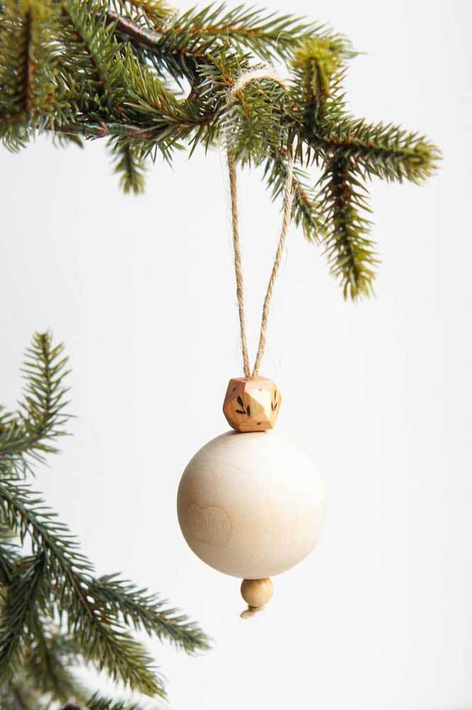 19. Realize the delicacy of this handcrafted Christmas ball.