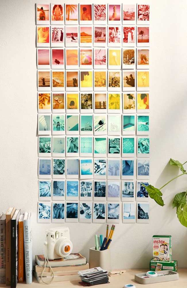 21. But if you prefer you can paste the photos directly on the wall, without having to use frames.