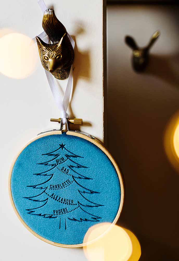25. Custom ornament to leave at the door of the house