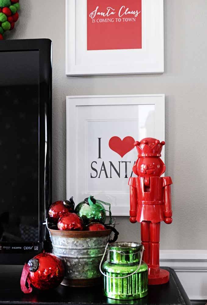 28. Want a simpler decoration than filling a bucket with Christmas baubles?