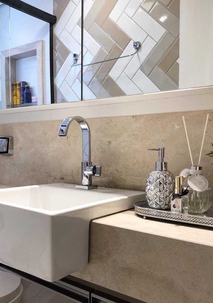 30. Cremma marble bathroom wall cladding.
