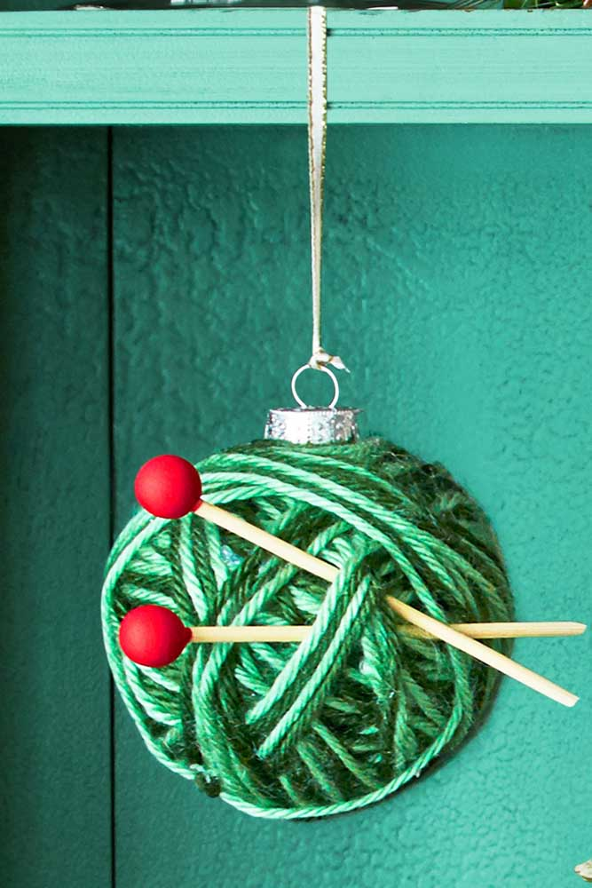 37. You can add other decorations to the handmade Christmas ball.