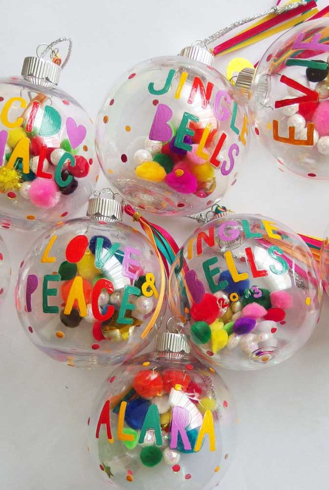 38. Want to do something more colorful and fun Place several colored pieces on the transparent balls.