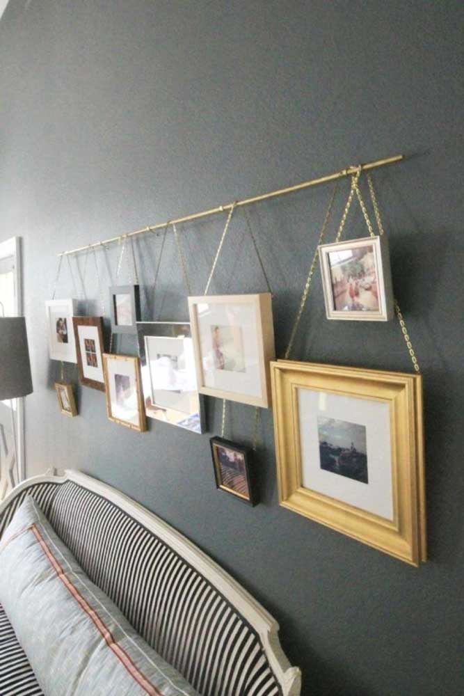 40. For those more methodical and organized, this model of photo panel is ideal.