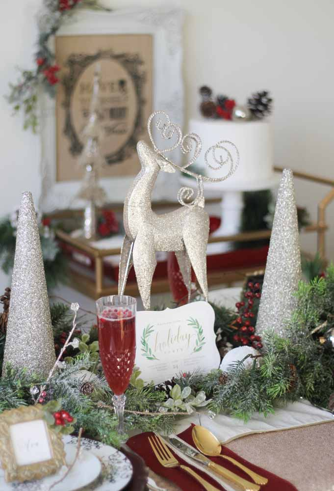43. Put Christmas ornaments to decorate the Christmas table