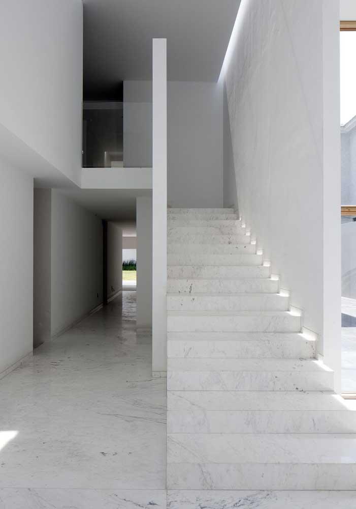 44. White marble staircase.