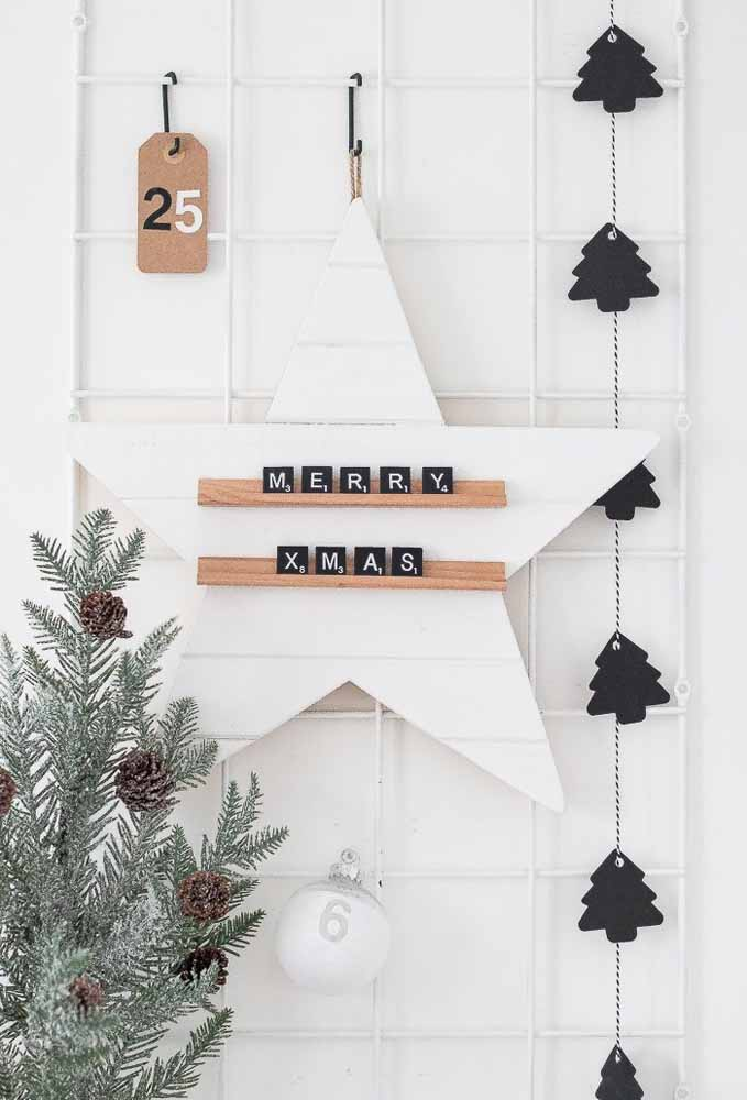 46. Customize a beautiful panel to receive Christmas