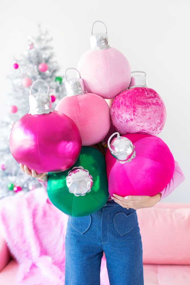 48. Big Christmas baubles are a trend in home decor.