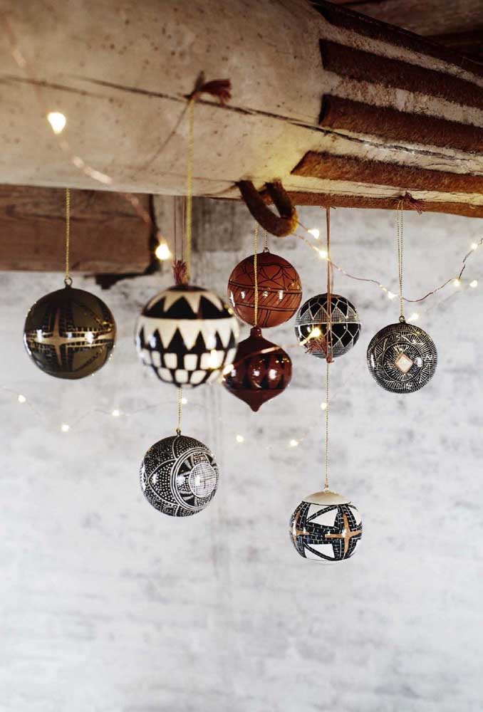 49. See these Christmas balls of different shapes and styles.