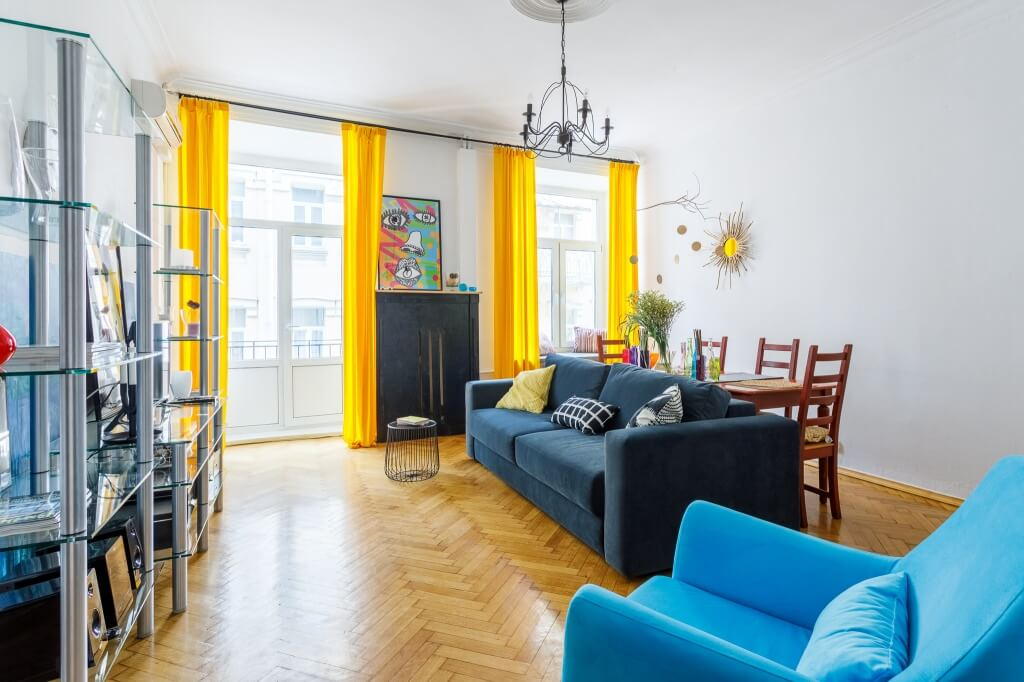 1. Yellow Curtains