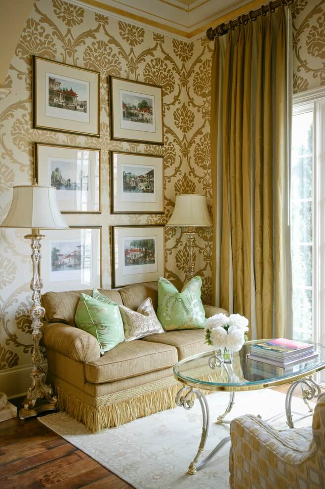 10. For yellow wallpaper
