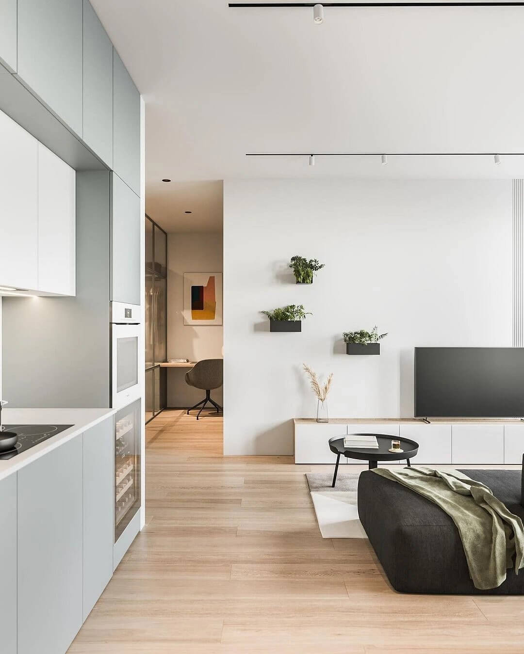 21. An interior built on minimalism in shades and details