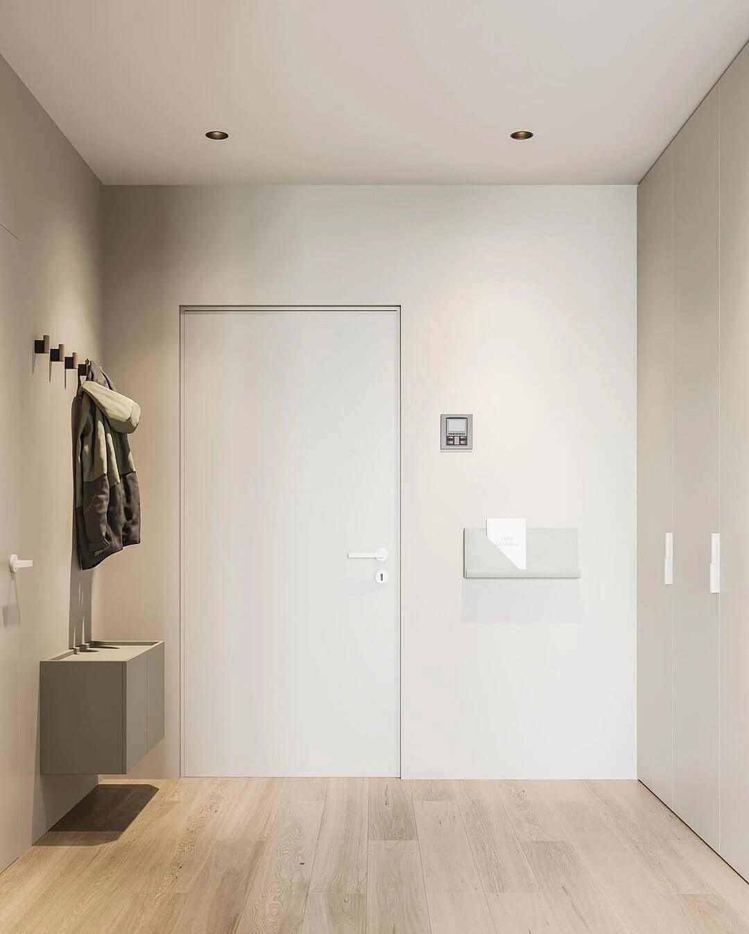 22. An interior built on minimalism in shades and details