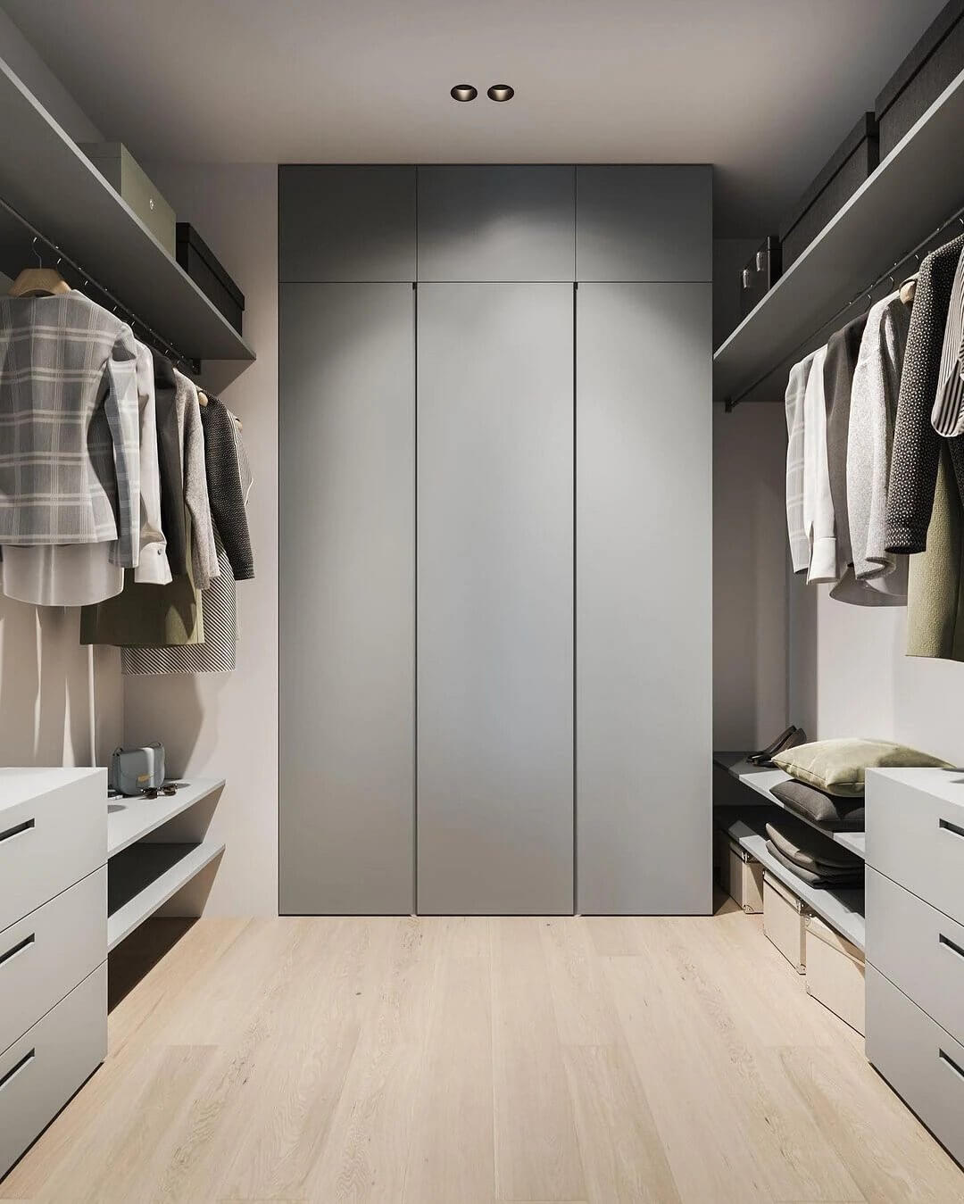 24. An interior built on minimalism in shades and details