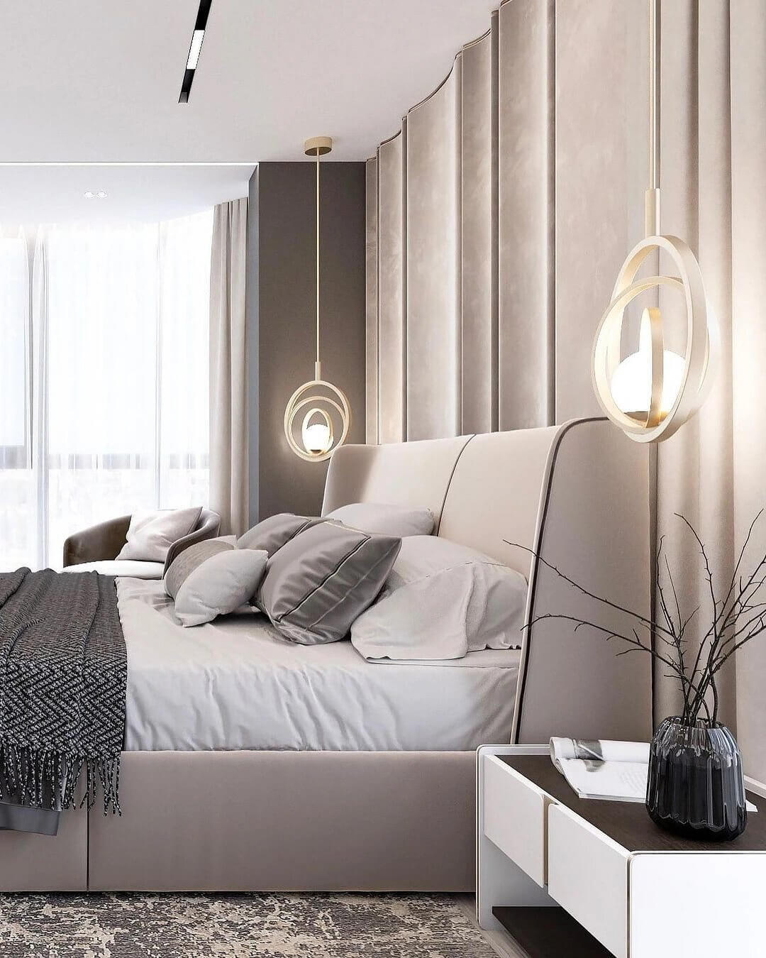 19. Interior in creamy shades with sophisticated textiles