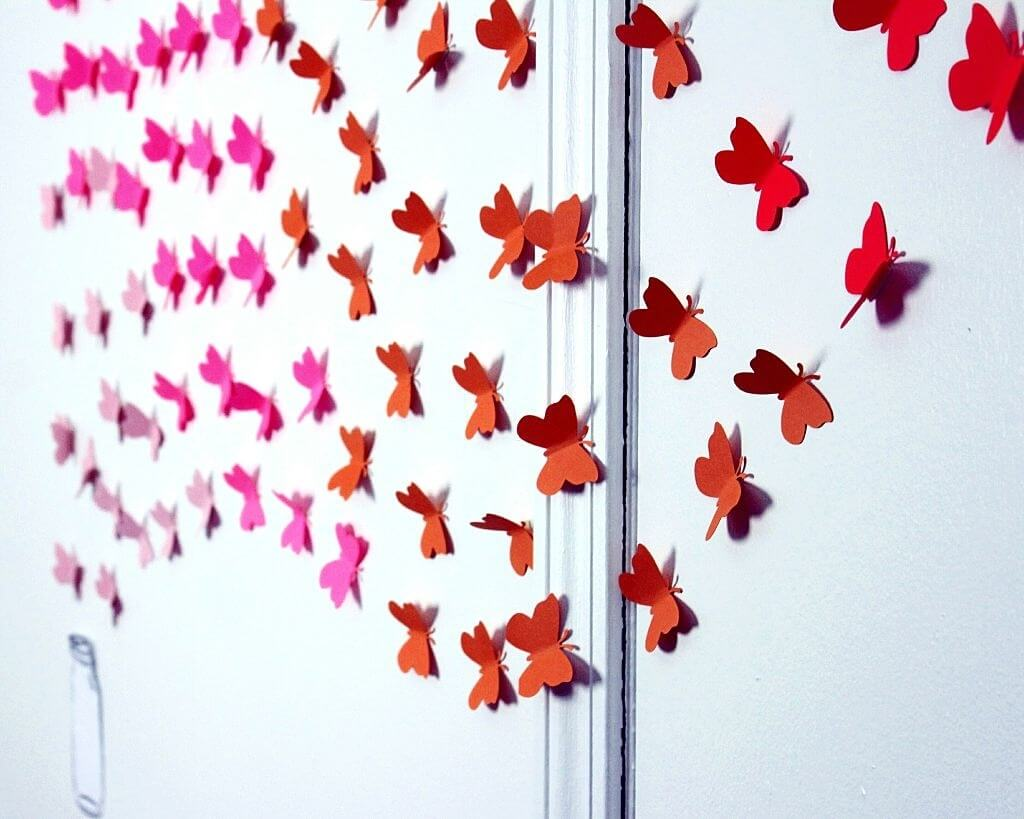 2. Decoration style and butterflies
