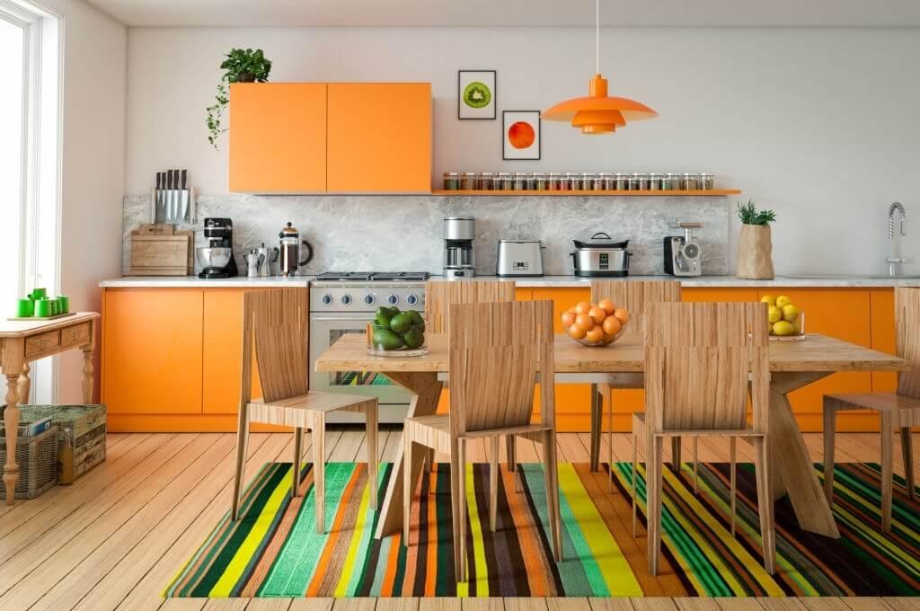 2. Orange Kitchen