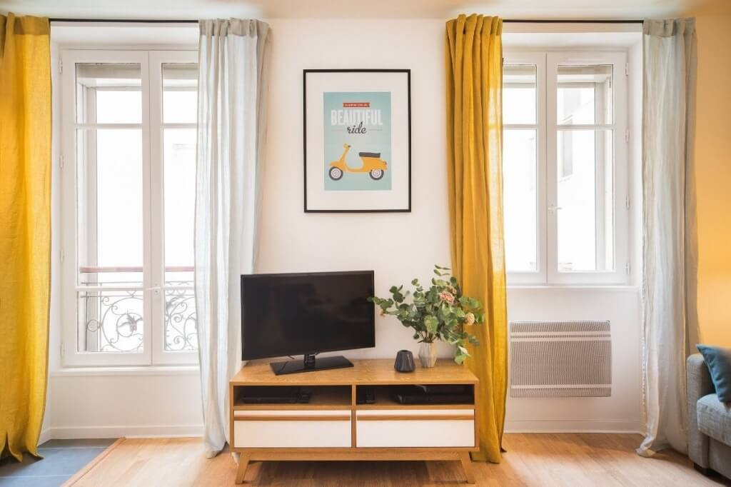 2. Yellow Curtains