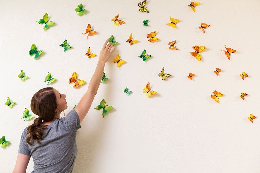 3. How to decorate butterflies on walls