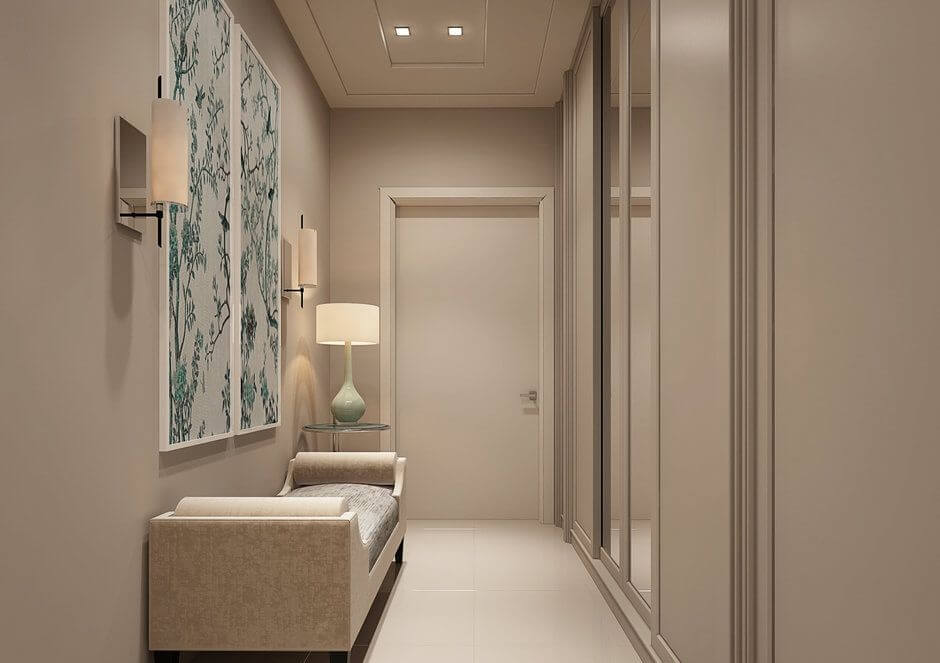 3. Narrow hallway