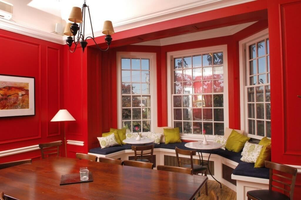 3. Red furniture for a modern interior
