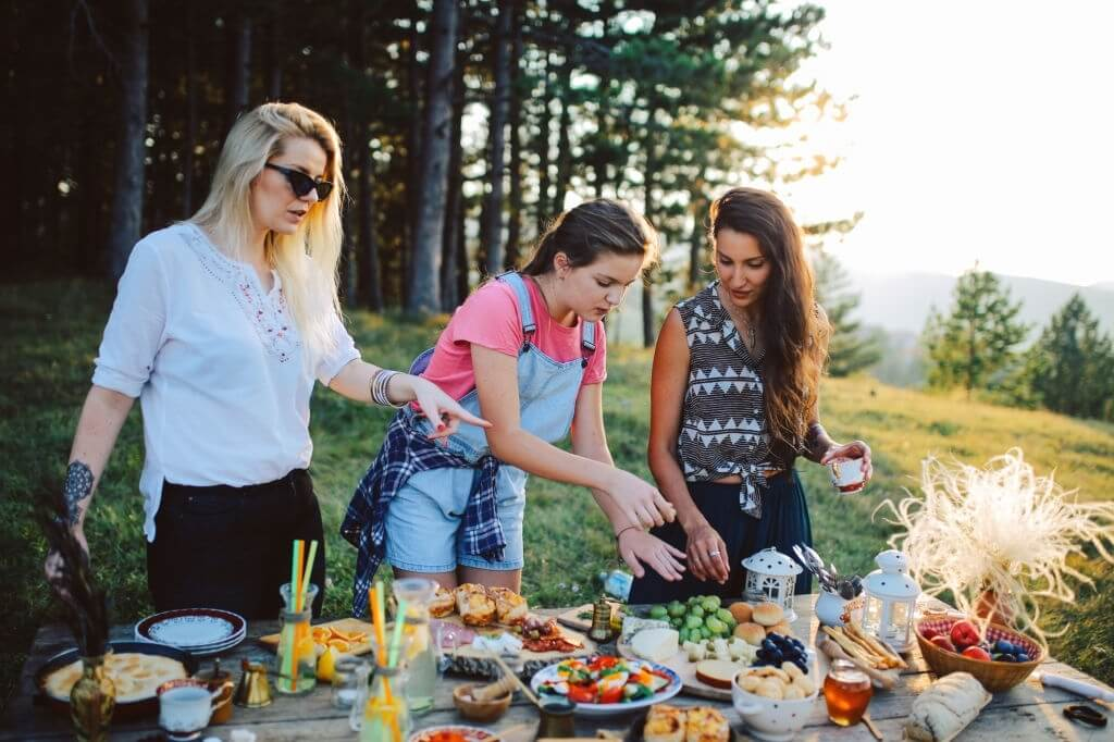 4. Have guests in the fresh air