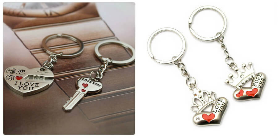 6. Keychains, pendants and rings