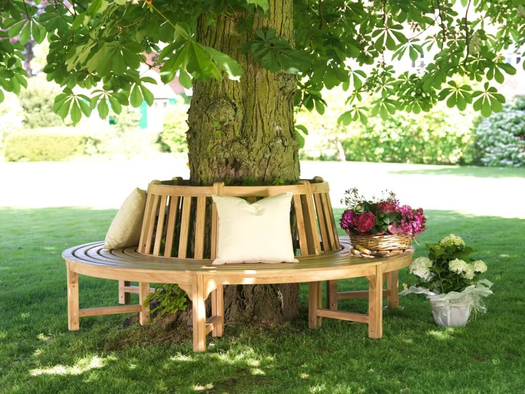 8. Build a bench around the tree