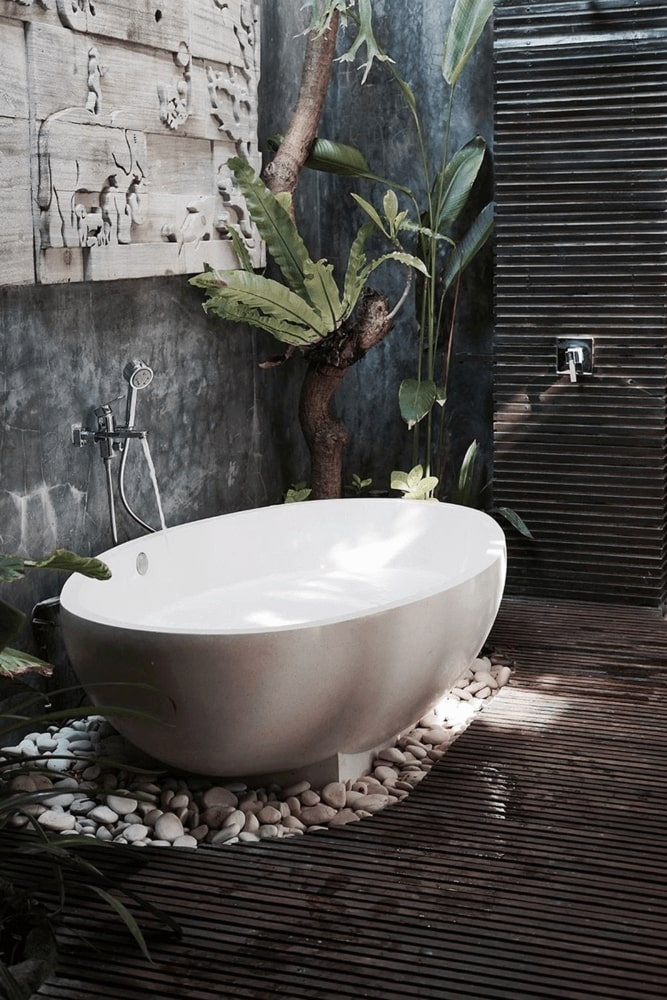Bathroom in eco-style
