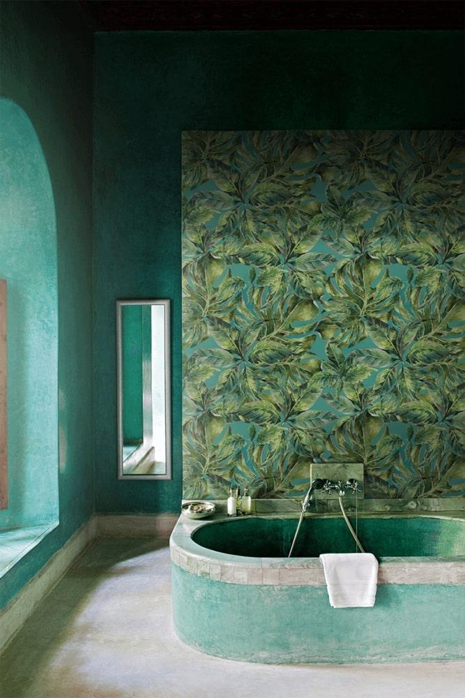 Bathroom in green