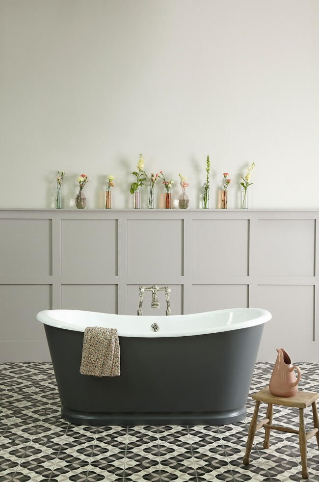 Cast iron baths are strong and durable